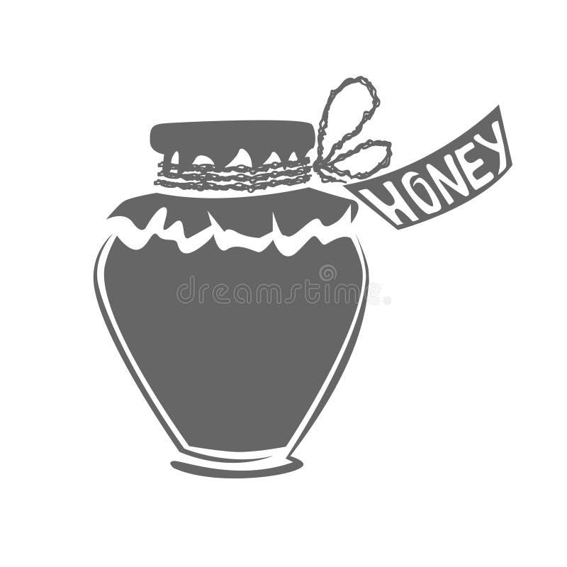Jar of honey silhouette royalty free stock photos