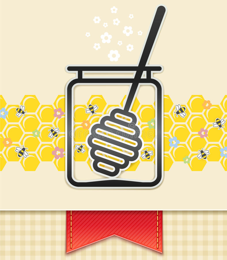 Download Jar With Honey And Spoon. Food Background Royalty Free Stock Images - Image: 26824499