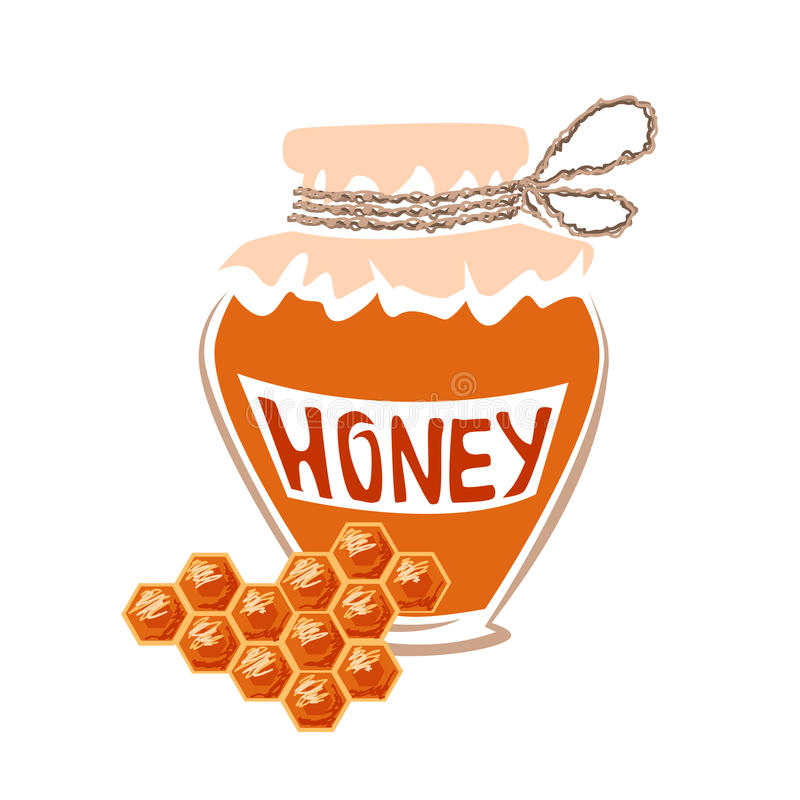 Jar of honey royalty free stock photos