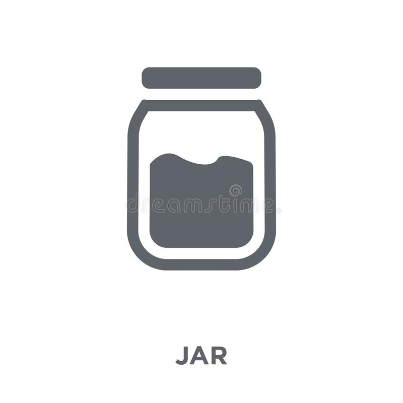 Jar icon from collection. Jar icon. jar design concept from collection. Simple element vector illustration on white background vector illustration