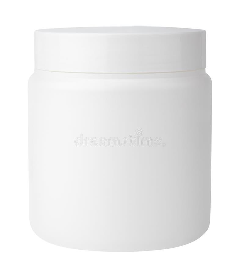 Jar isolated on white stock photography
