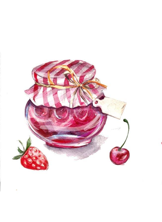 Download Jar of jam stock illustration. Illustration of large - 21762438