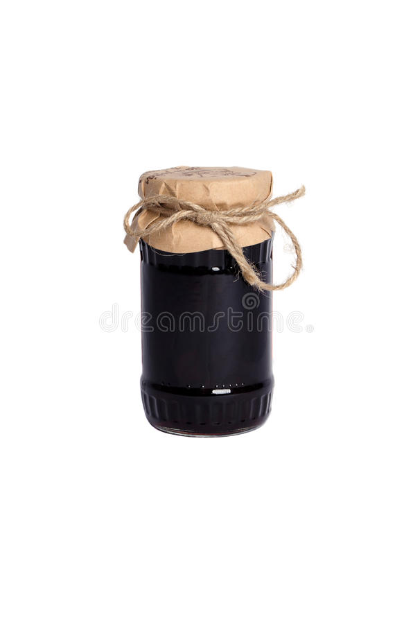 Jar with jam royalty free stock photo