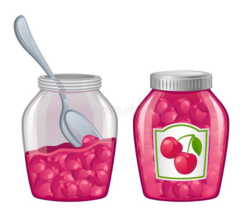 Jar of jam royalty free illustration