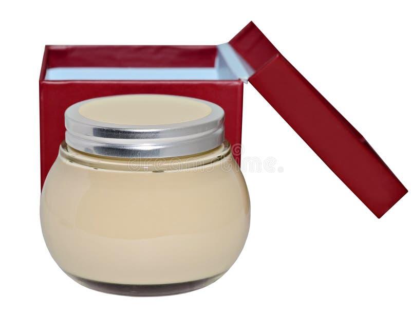 Jar of Lotion on White stock photo