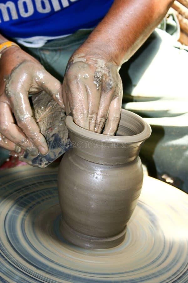 Jar Making royalty free stock image