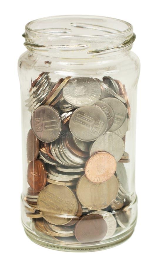 Jar with money stock photos