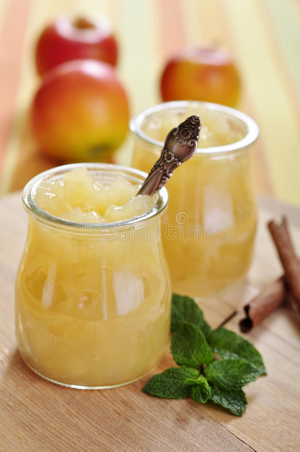 Free Jar Of Apple Jam Royalty Free Stock Photos - 27081728