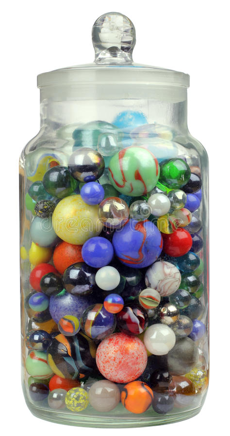 Free Jar Of Marbles Royalty Free Stock Image - 31834696
