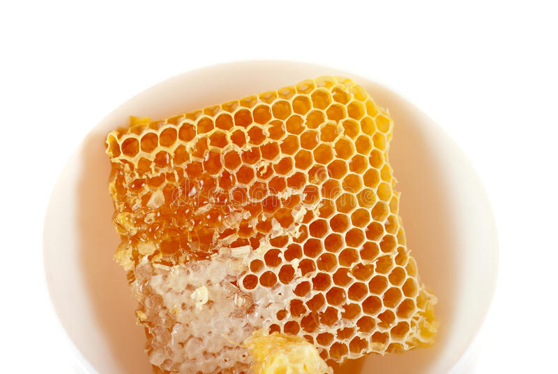 Jar of organic honey royalty free stock image