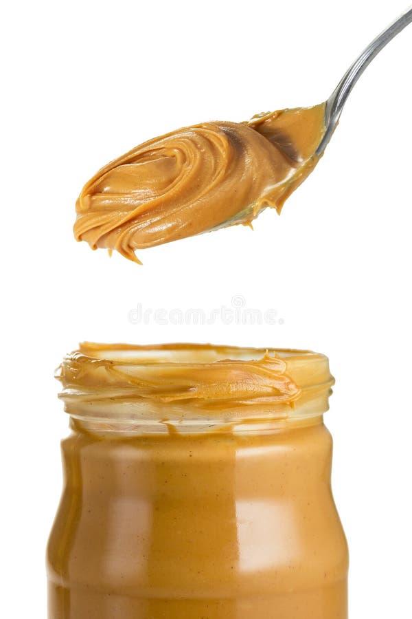 Jar of Peanut Butter stock photo