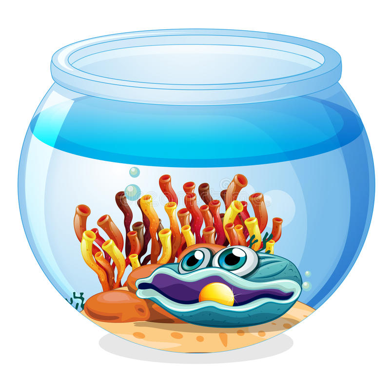 A jar with a pearl stock illustration