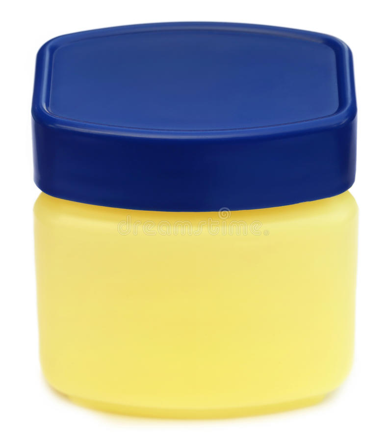 Jar for petroleum jelly royalty free stock image