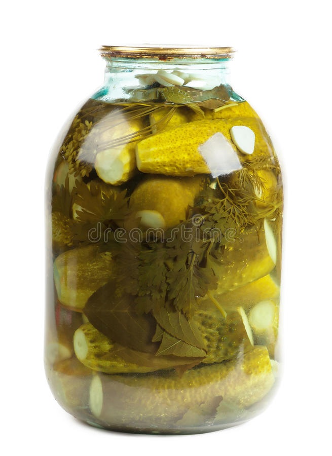 Jar of pickles royalty free stock photo