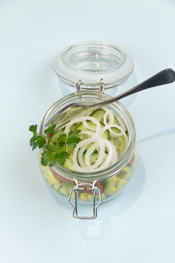 Jar Of Salad stock photography