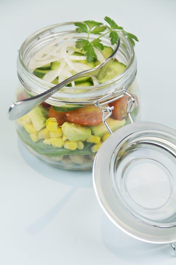 Jar Of Salad royalty free stock photography