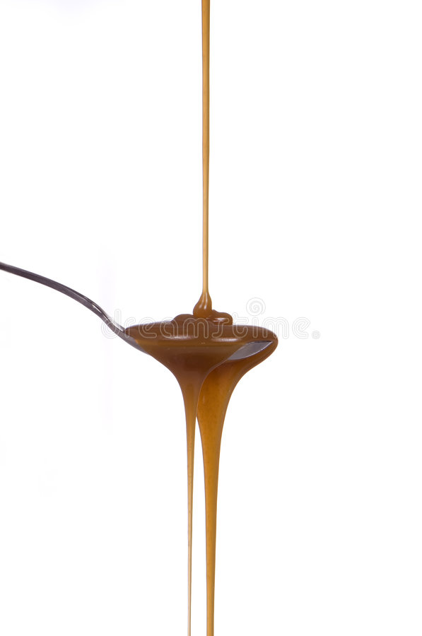 Jarabe del caramelo imagen de archivo