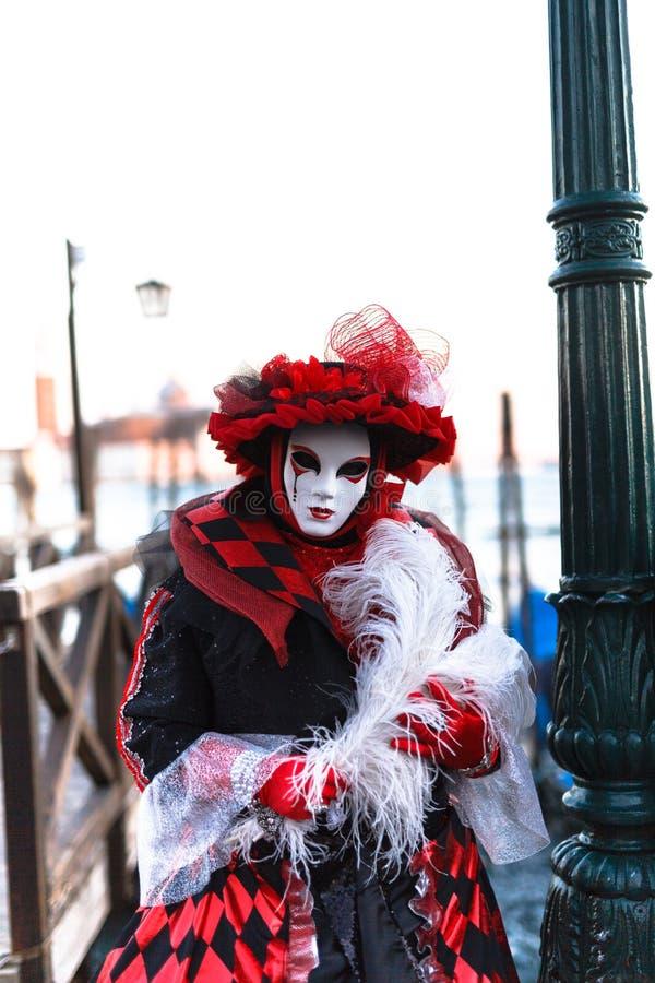 Jaranero vestido del carnaval de Venecia fotografía de archivo libre de regalías
