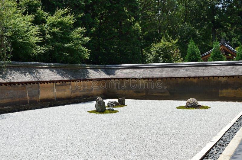Jardn De Piedras Del Zen Verano De Kyoto Japn Foto de archivo