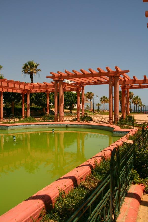 Jardín árabe pintoresco imagenes de archivo