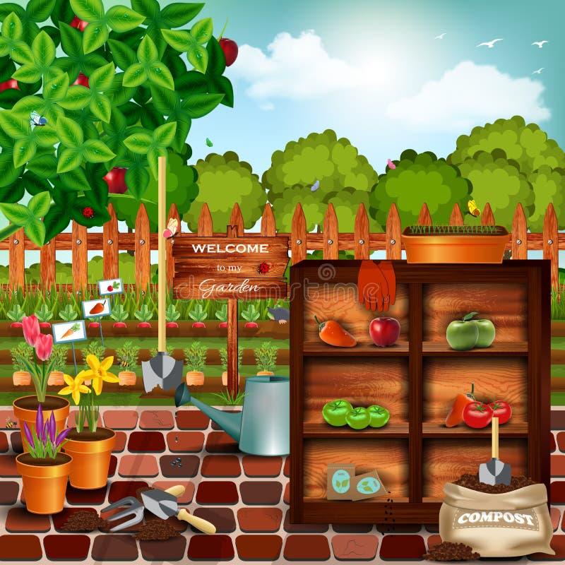 Jardín stock de ilustración
