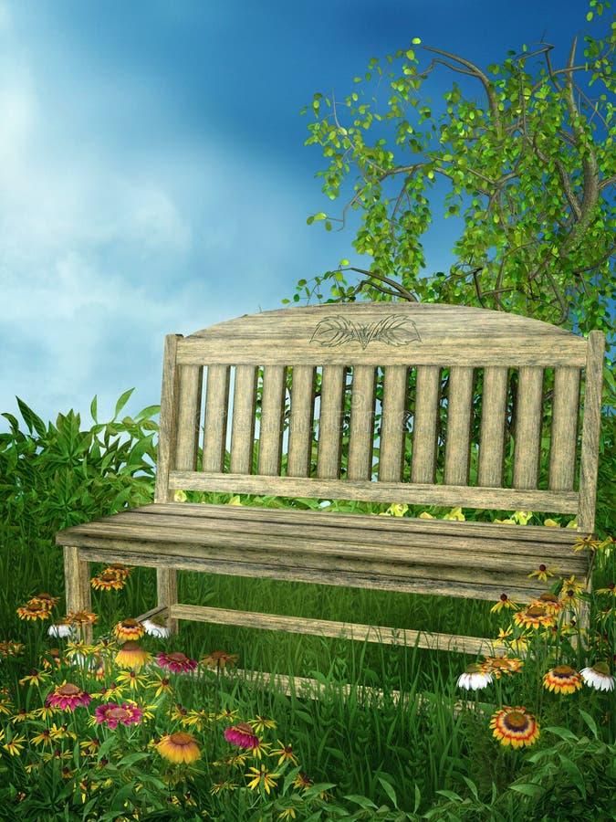 Jardín 3 de la primavera ilustración del vector