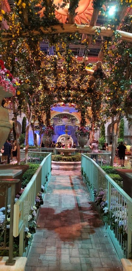 Jardín Bellagio imágenes de archivo libres de regalías
