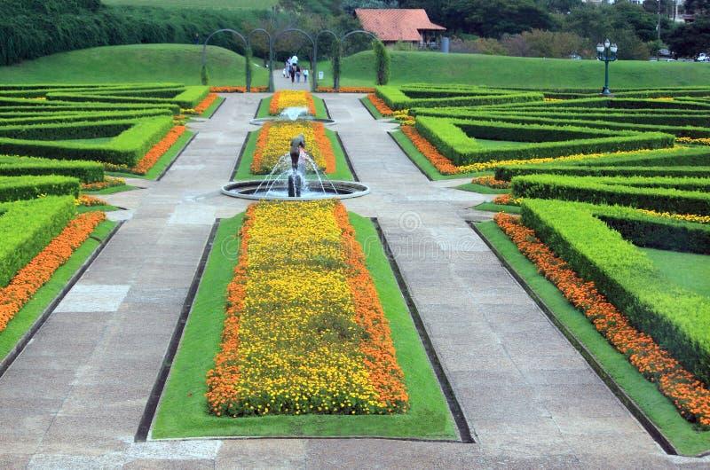 Jardín botánico en Curitiba, el Brasil imagen de archivo libre de regalías