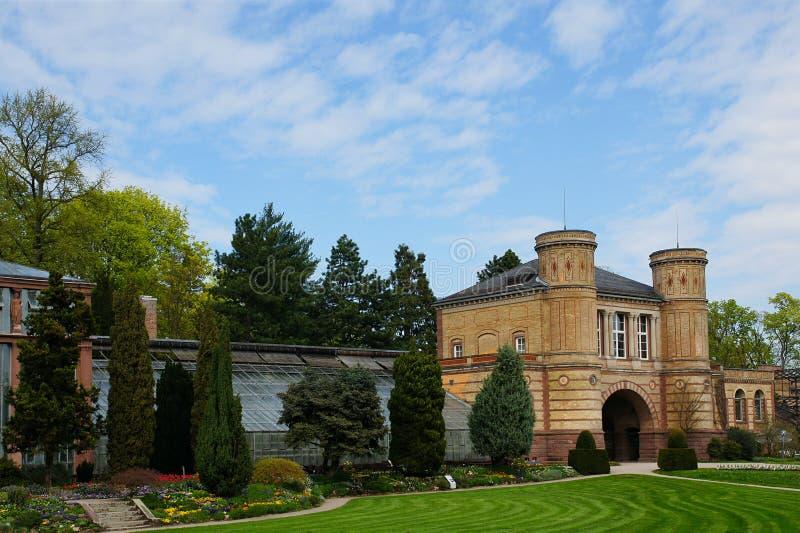 Jardín botánico en Karlsruhe fotografía de archivo