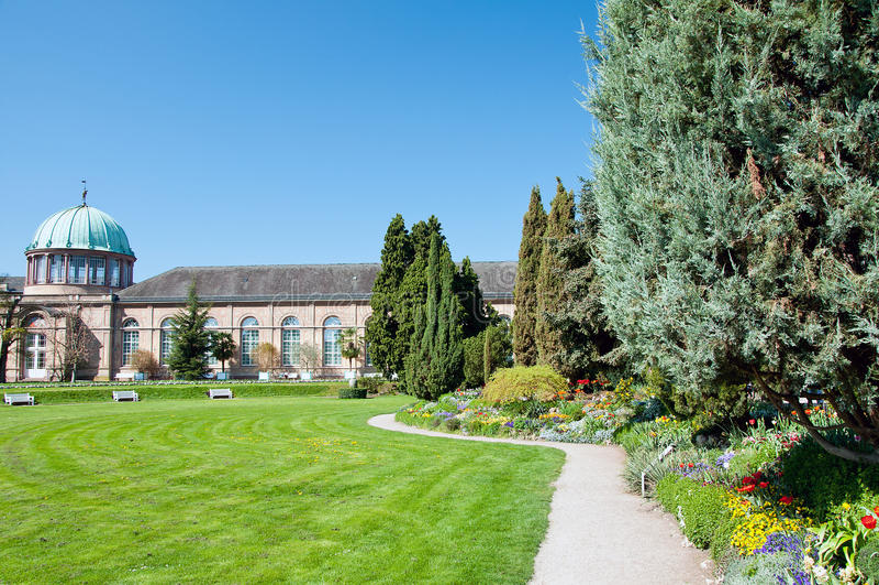 Jardín botánico municipal en Karlsruhe imagen de archivo