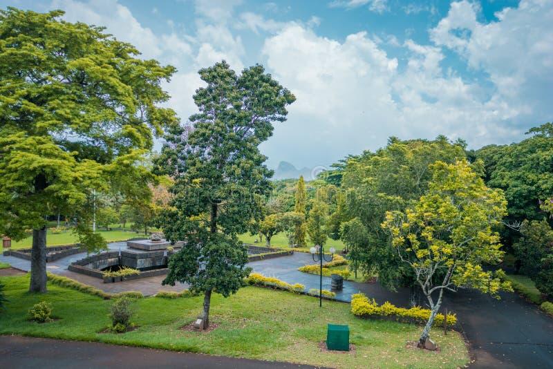 Jardín botánico Pamplemousses, Mauricio imágenes de archivo libres de regalías