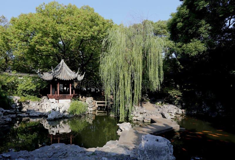 Jardín chino Shangai Yuyuan foto de archivo