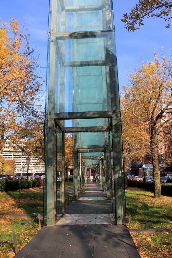 Jardín conmemorativo del holocausto, honrando víctimas y a supervivientes de los campos de concentración de WWII, Boston, Massachu imagen de archivo libre de regalías