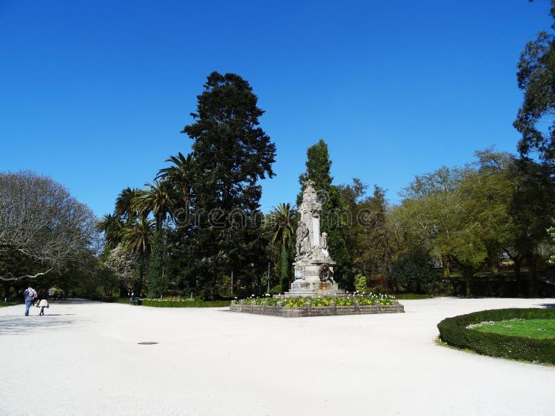 Jardín de Alameda de la gente - Santiago Compostela - España fotografía de archivo libre de regalías