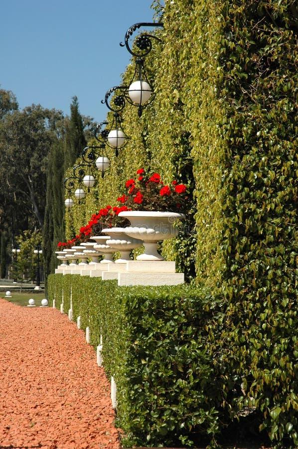 Jardín de Bahai del acre imagenes de archivo