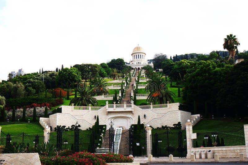Jardín de Bahai en Israel imagenes de archivo