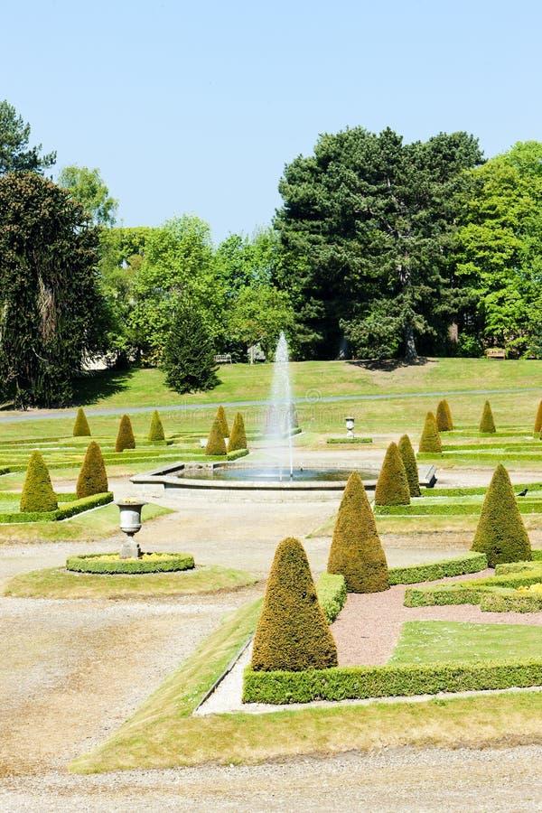 jardín de Barnard Castle, este del norte, Inglaterra foto de archivo