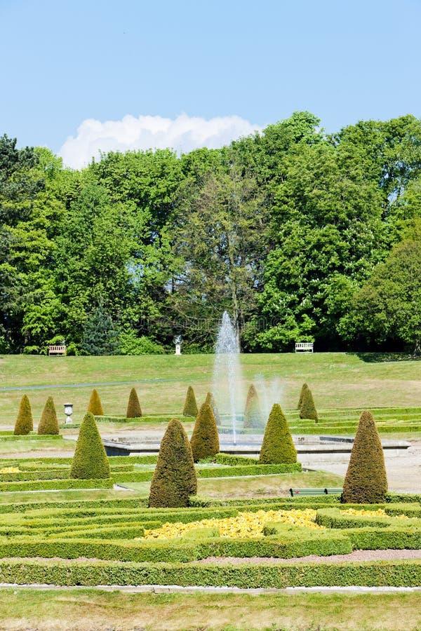 jardín de Barnard Castle, este del norte, Inglaterra imagen de archivo