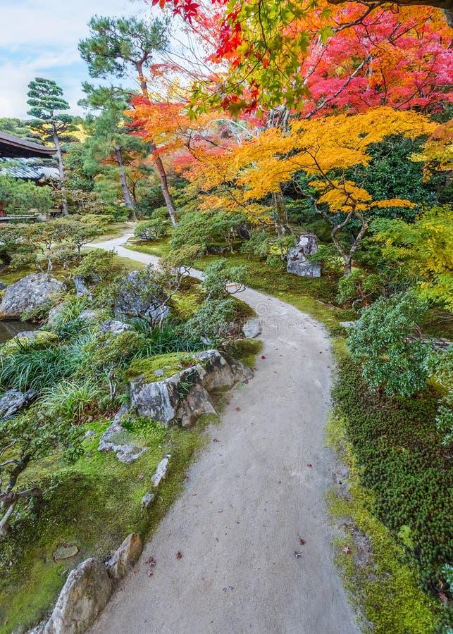 Jardín de Chisen-kaiyushiki en el templo de Ginkaku-ji, Kyoto imágenes de archivo libres de regalías