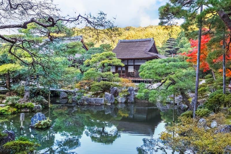 Jardín de Chisen-kaiyushiki en el templo de Ginkaku-ji, Kyoto foto de archivo libre de regalías