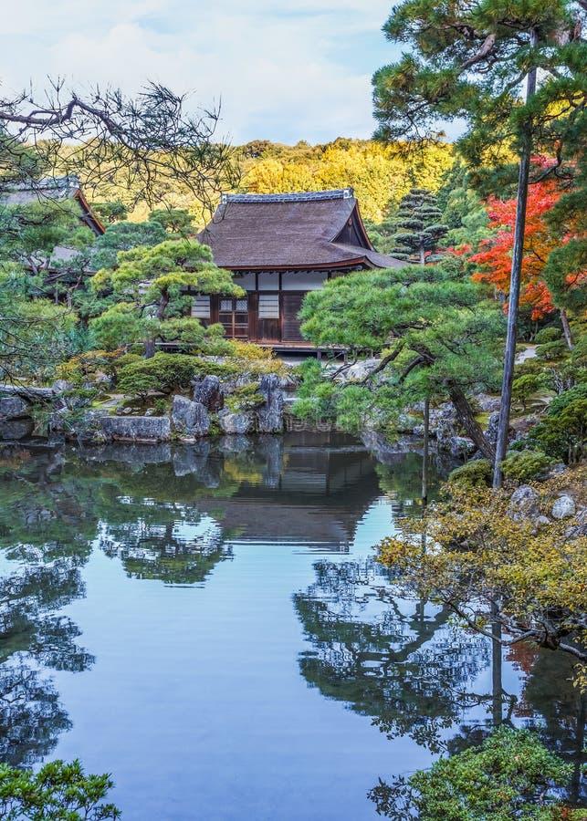 Jardín de Chisen-kaiyushiki en el templo de Ginkaku-ji, Kyoto imagen de archivo
