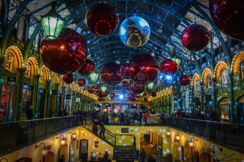 Jardín de Covent - la Navidad fotografía de archivo libre de regalías