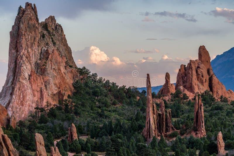 Jardín de dioses Colorado imagen de archivo