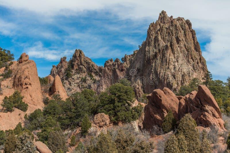 Jardín de dioses Colorado Springs imagen de archivo libre de regalías
