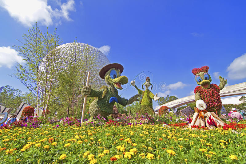 Jardín de Disney fotos de archivo