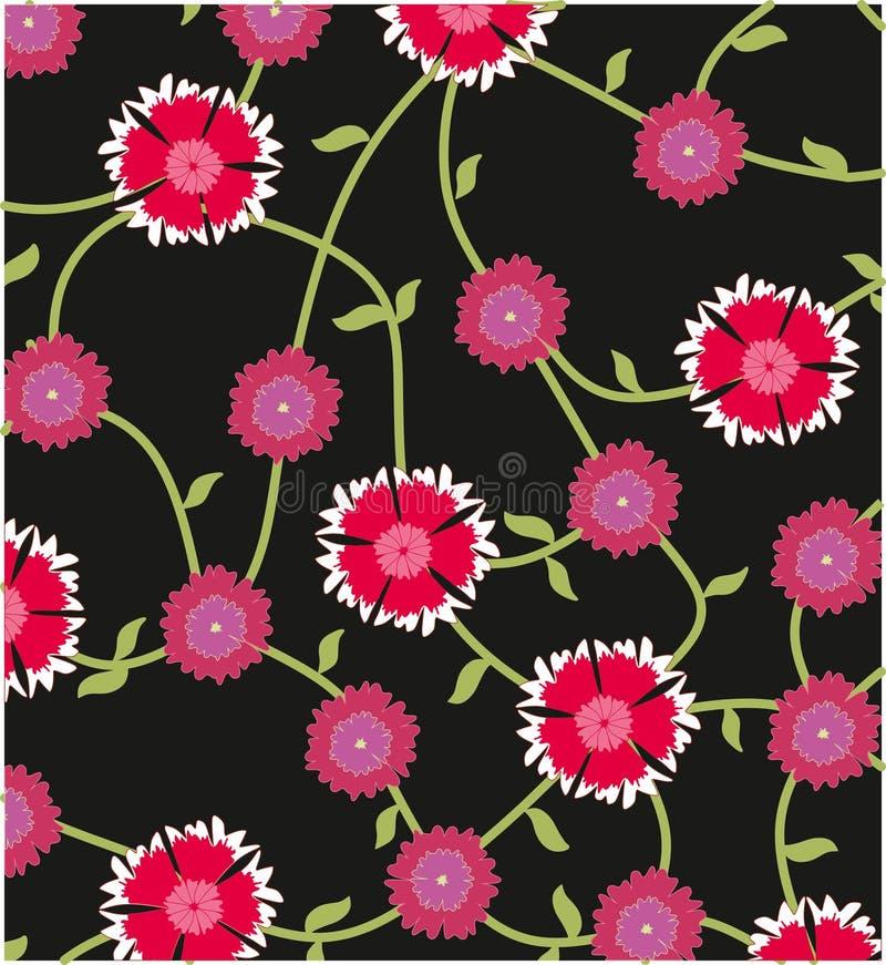 Jardín de flores del diseño del modelo stock de ilustración