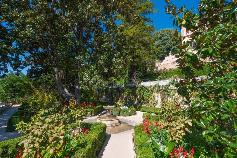 Jardín de Generalife, Alhambra imagenes de archivo