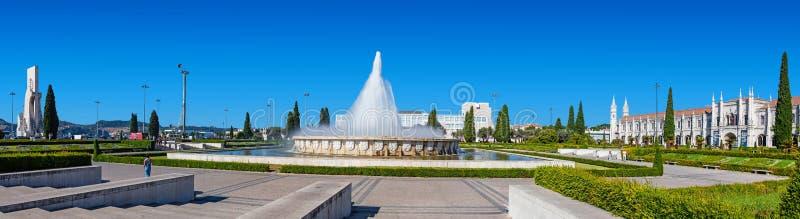Jardín de Imperio en Lisboa fotografía de archivo