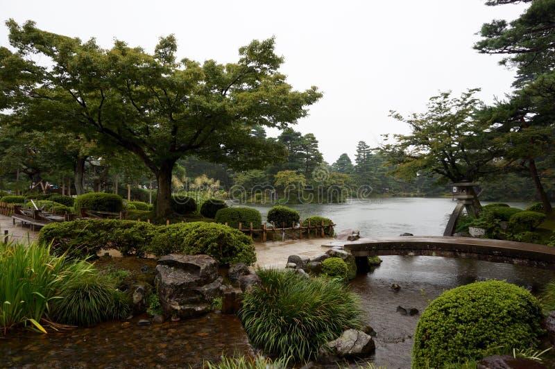 Jardín de Kanazawa imagenes de archivo