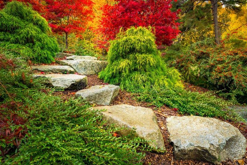 Jardín de Kubota, Seattle Washington State imagenes de archivo